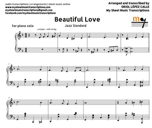 Beautiful Love (Jazz Standard) Sheet music (.pdf)