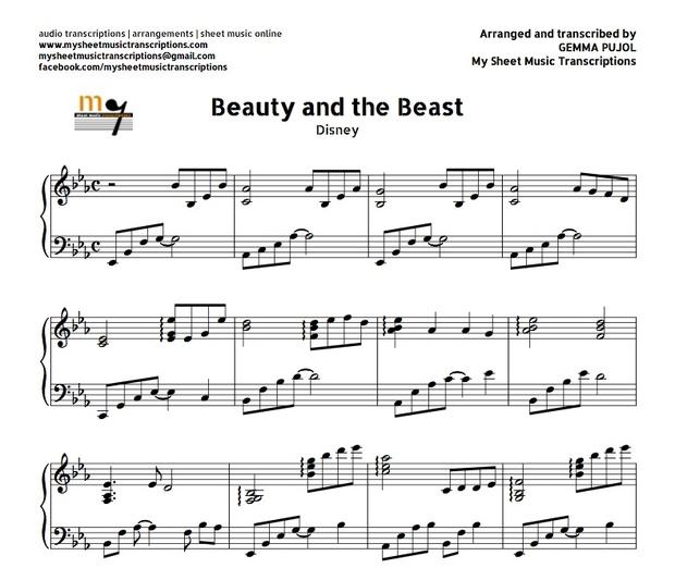 Beauty and The Beast (Disney) Sheet music ( pdf)