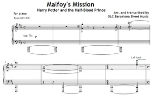 Malfoy's Mission (Harry Potter) - piano arrangement