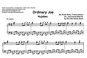 Ordinary Joe (Nujabes) Sheet Music Transcription