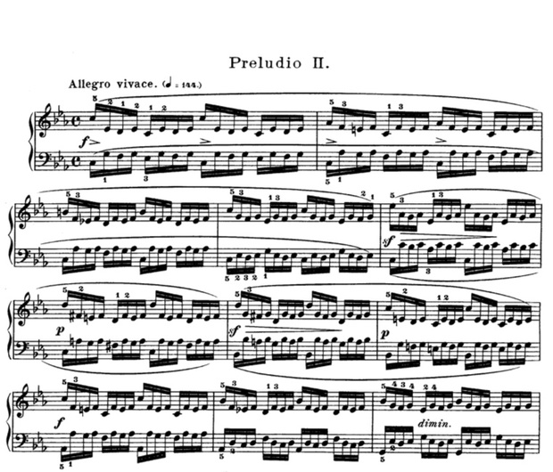 Prelude and Fugue No.2 in C minor (Bach) Sheet music (.pdf)