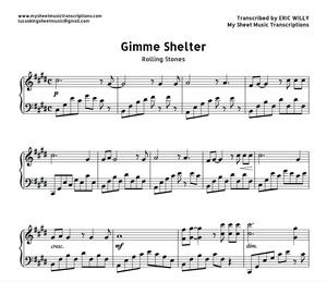 Gimme Shelter (Rolling Stones) Sheet music (.pdf)