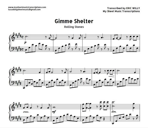 Gimme Shelter (Rolling Stones) Sheet music ( pdf)