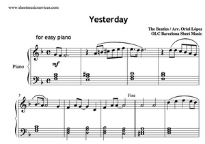 Yesterday (The Beatles) Sheet music (.pdf)