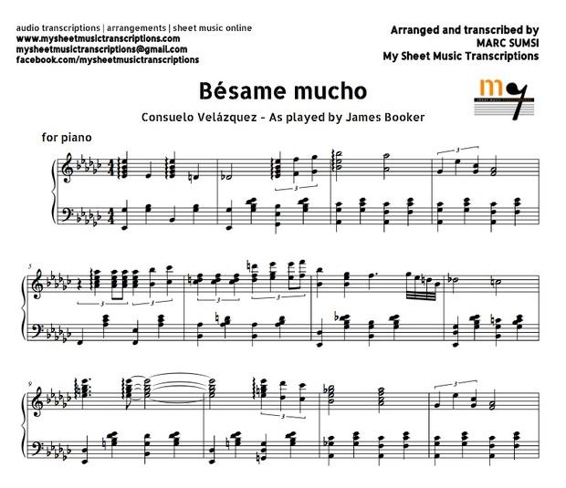 Bésame Mucho (Consuelo Velázquez) Sheet music (.pdf)