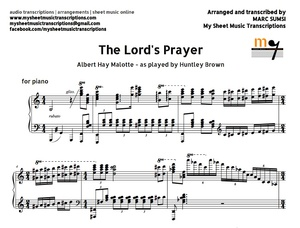 The Lord's Prayer (A.H. Malotte) Sheet music (.pdf)