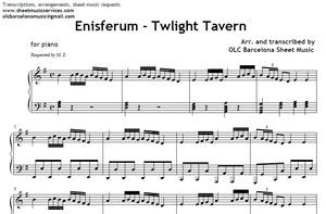 Twilight Tavern (Enisferum) - piano sheet arrengement