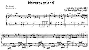 Nevereverland Cover Sheet music (.pdf)