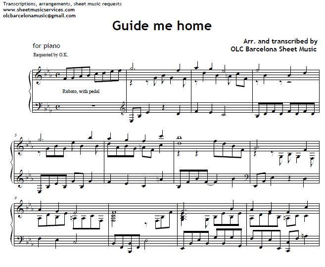 guide me home piano arrengement my sheet music transcriptions rh sellfy com sheet music glider gw2 sheet music guide piano