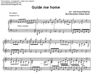 Guide me home - piano arrengement