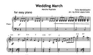 Wedding March (Mendelssohn) Sheet music (.pdf)