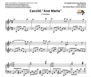 Ave Maria Caccini (Vavilov)  Sheet music (.pdf)