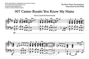 Casino Royale Main Theme (You Know My Name) Sheet music (.pdf)