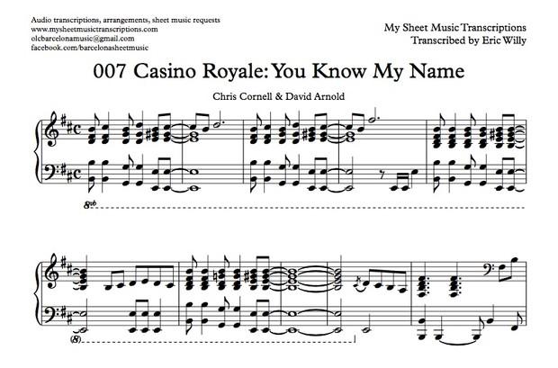 Casino Royale Main Theme (You Know My Name) Sheet music (.pdf)