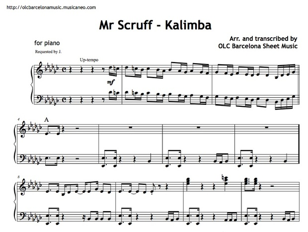 Mr. Scruff (Kalimba) Sheet music (.pdf)