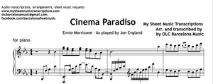 Cinema Paradiso (Ennio Morricone) Sheet Music
