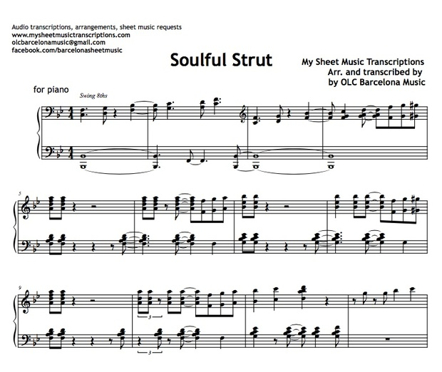 Soulful Strut (Young-Holt Unlimited) Sheet Music