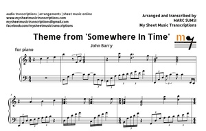 Somewhere In Time (Movie Theme) Sheet Music