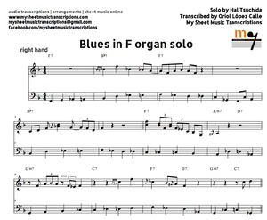 Blues in F (Right Hand Solo) Sheet music (.pdf)