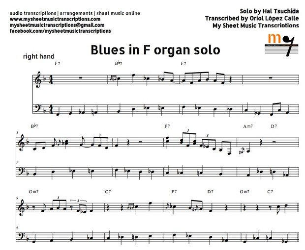 Blues in F (Right Hand Solo) Sheet music ( pdf)