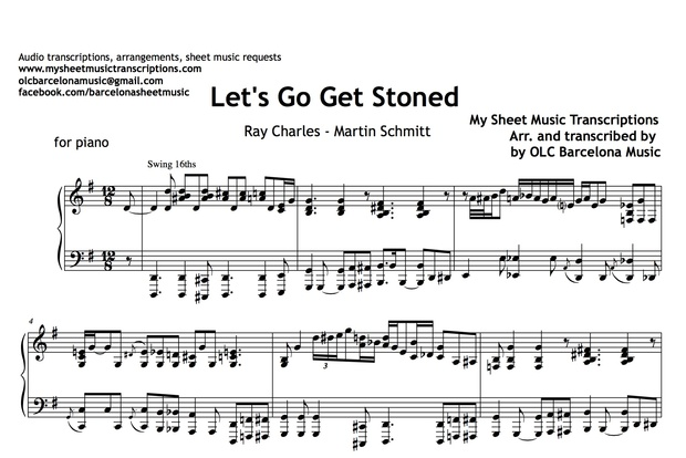 Let's Go Get Stoned (Ray Charles and Martin Schmitt) Sheet Music