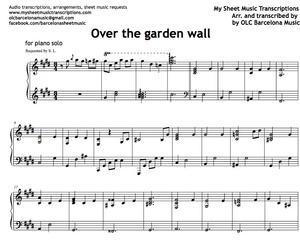 Over the Garden Wall (Intro) Sheet music (.pdf)