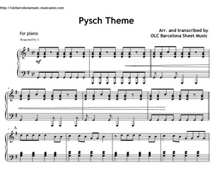 Psych Theme - sheet music for piano