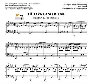 I'll Take Care of You (Beth Hart & Joe Bonamassa) Sheet music (.pdf)
