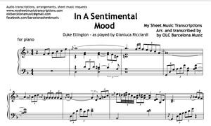 In A Sentimental Mood (Duke Ellington) Music Sheet