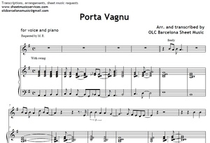 Porta Vagnu - piano sheet music