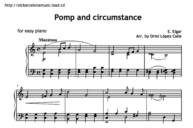 Pomp and Circumstance Sheet music (.pdf)