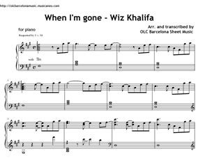 When I'm Gone Intro (Wiz Khalifa) Sheet music (.pdf)