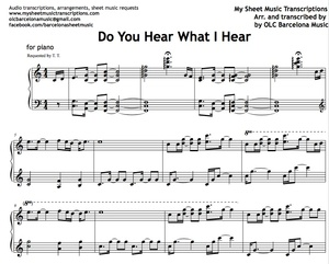 Do You Hear What I Hear? (Piano version) Sheet music (.pdf)