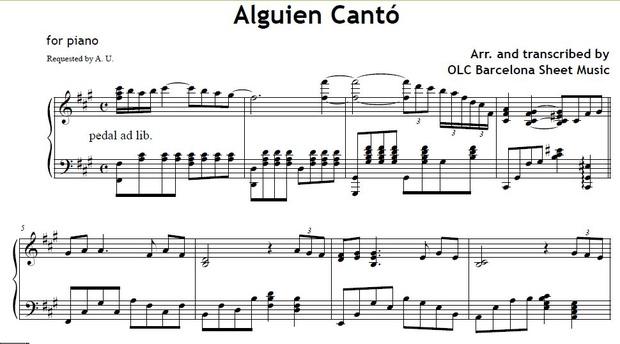 Alguien Cantó (Matt Monro) - sheet music for piano