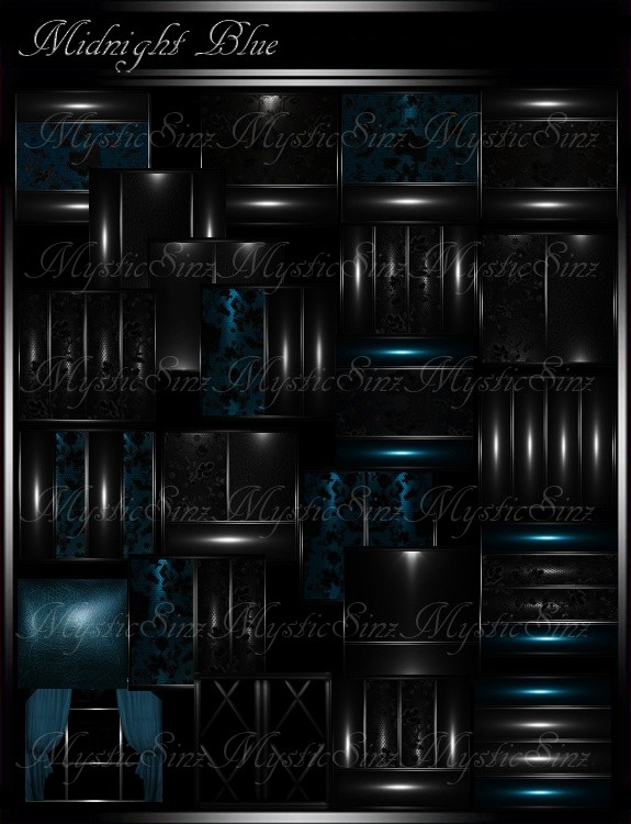 IMVU Room Textures Midnight Blue Room Collection