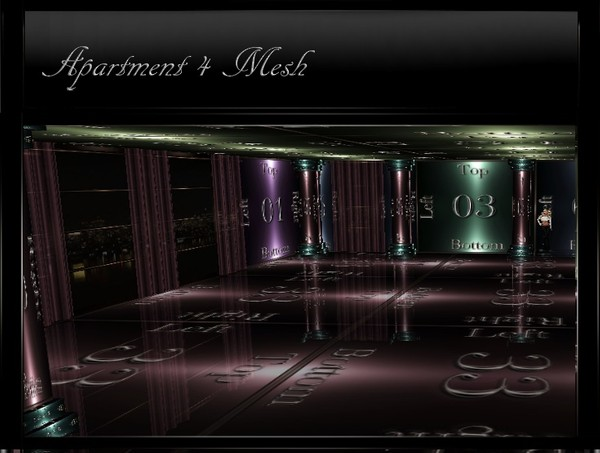 IMVU Apartment 4 Room Mesh