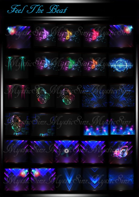 Feel The Beat Version 2 IMVU Room Textures Collection