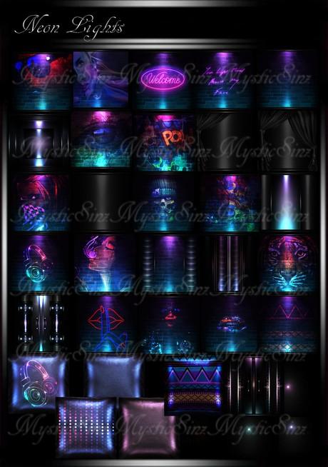 Neon Lights IMVU Room Textures Collection