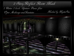 IMVU Mesh 2-Story Reflect Room