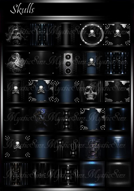 Skulls IMVU Room Textures Collection