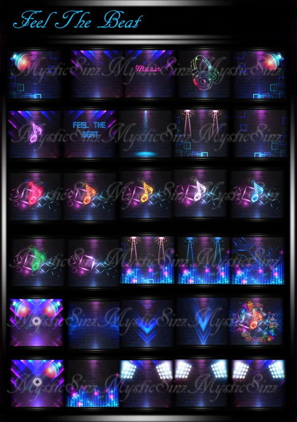 Feel The Beat IMVU Room Textures Collection