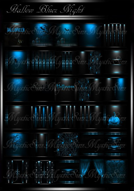 Hallow Bluez Nights IMVU Room Textures Collection
