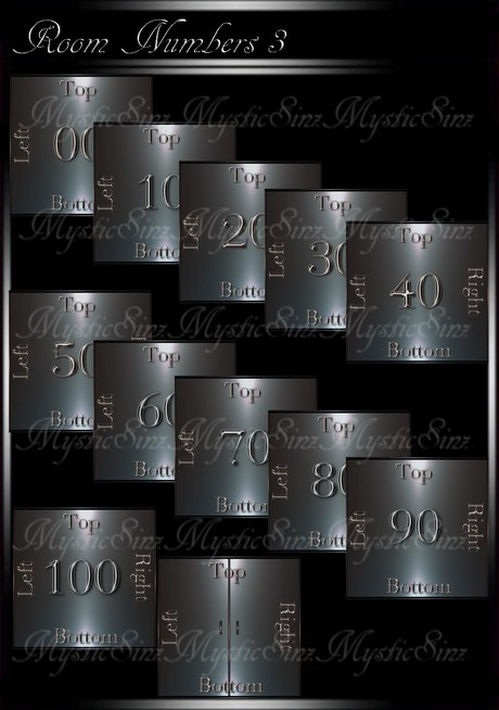 IMVU Mesh Room Numbers