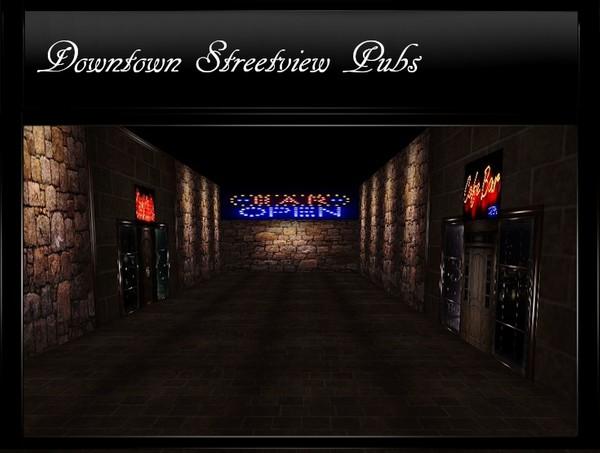 Downtown Streetview Pubs IMVU Mesh