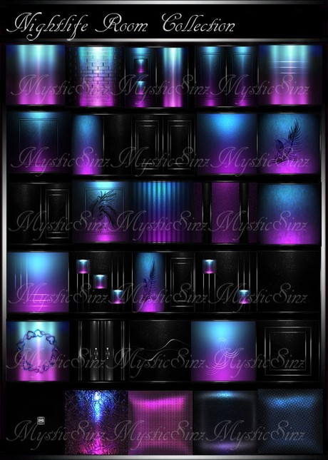 IMVU Textures Nightlife Room Collection