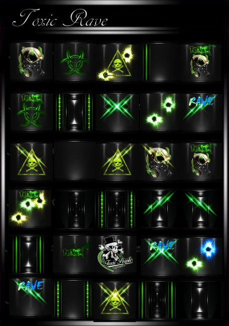 Toxic Rave IMVU Room Texture Collection