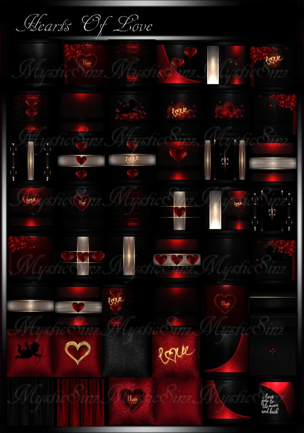 Hearts Of Love IMVU Room Collection