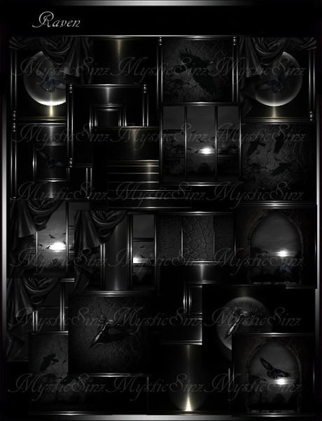 IMVU Textures Raven Room Collection