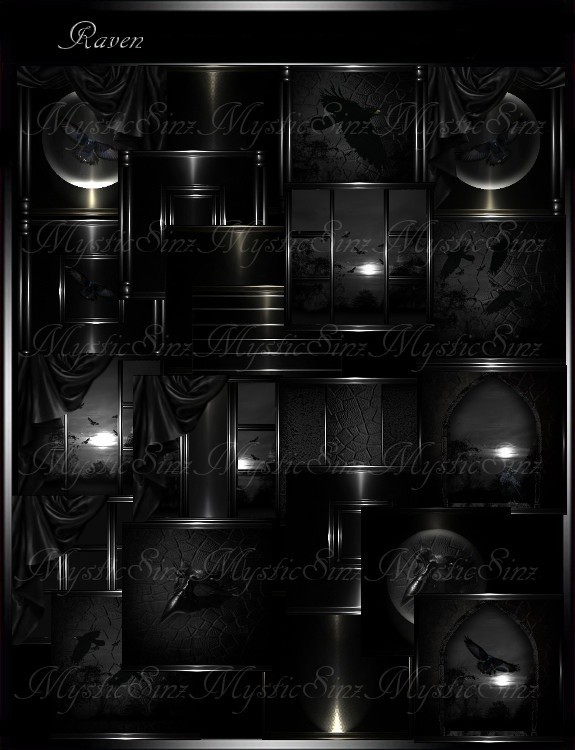 IMVU Textures Raven Room Collection