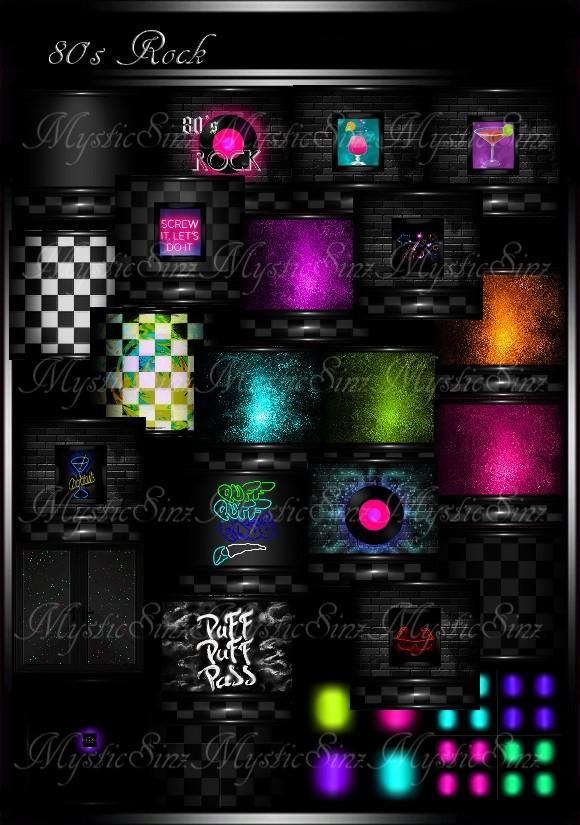 80's Rock IMVU Room Texture Collection